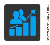 audience growth raster icon.... | Shutterstock . vector #306751862