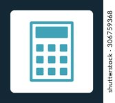 calculator vector icon. this... | Shutterstock .eps vector #306759368