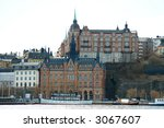 View to Södermalm from Gamla stan - stock photo