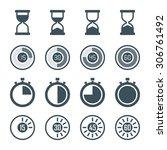 timer  digital timer  stopwatch ... | Shutterstock . vector #306761492