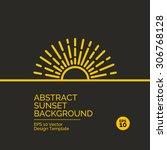 abstract flat design concept... | Shutterstock .eps vector #306768128