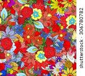 beautiful summer ornate from... | Shutterstock . vector #306780782