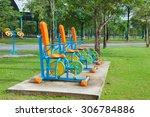 exercise equipment in public... | Shutterstock . vector #306784886