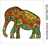 the cheerful elephant. the... | Shutterstock . vector #306786758