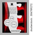 brochure flyer design    Shutterstock .eps vector #306789272