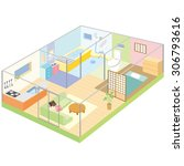 layout of the house   Shutterstock .eps vector #306793616
