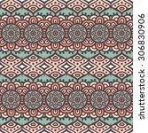 seamless pattern. vintage... | Shutterstock .eps vector #306830906