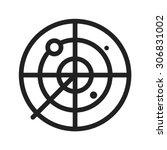 radar  screen  airport icon...   Shutterstock .eps vector #306831002
