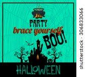 halloween background with... | Shutterstock .eps vector #306833066