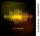 single colorful eq  equalizer... | Shutterstock .eps vector #306833942