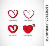 vector company logo icon... | Shutterstock .eps vector #306836096