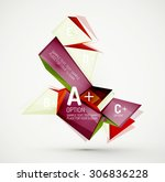3d geometric shapes with sample ...   Shutterstock .eps vector #306836228