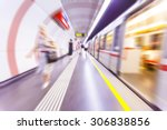 subway train passing by with... | Shutterstock . vector #306838856