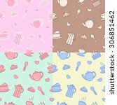 multicolored pattern with... | Shutterstock .eps vector #306851462