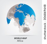 world map vector illustration | Shutterstock .eps vector #306869648