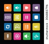 dj icons universal set for web... | Shutterstock . vector #306883796