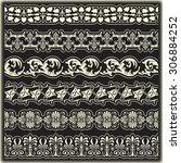 vintage border set for design  | Shutterstock .eps vector #306884252