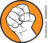 fist   Shutterstock .eps vector #30688429