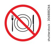 no food or drink sign | Shutterstock .eps vector #306888266
