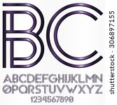 decorative font   dark purple | Shutterstock .eps vector #306897155