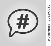 the hashtag icon. social... | Shutterstock .eps vector #306897752