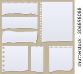 collection of white torn paper. ... | Shutterstock .eps vector #306898088