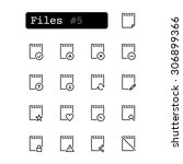 set line thin icons. vector.... | Shutterstock .eps vector #306899366