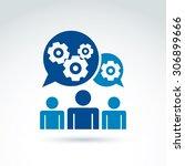 vector illustration of gears ... | Shutterstock .eps vector #306899666