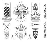 set of vintage barber shop... | Shutterstock .eps vector #306905765