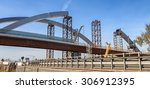 large steel bridge under... | Shutterstock . vector #306912395