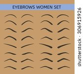 female eyebrows in different... | Shutterstock .eps vector #306915926