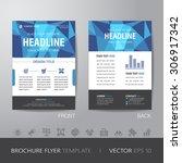 polygon business brochure flyer ... | Shutterstock .eps vector #306917342