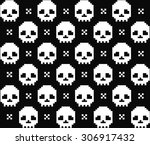 skull texture  | Shutterstock .eps vector #306917432