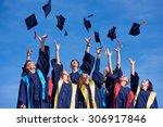 high school students graduates... | Shutterstock . vector #306917846