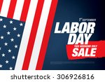 labor day sale | Shutterstock .eps vector #306926816