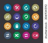 dj icons universal set for web... | Shutterstock . vector #306934592