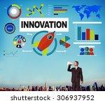 innovation idea creative... | Shutterstock . vector #306937952