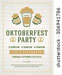 oktoberfest beer festival...   Shutterstock .eps vector #306941786