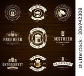 beer festival oktoberfest... | Shutterstock .eps vector #306942308