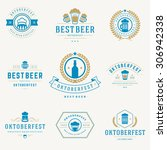 retro style labels  badges and... | Shutterstock .eps vector #306942338