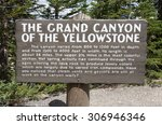 Sign Of  The Grand Canyon Of...