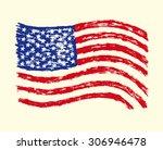 hand drawn grunge usa flag.