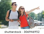 travel  tourism  summer... | Shutterstock . vector #306946952