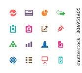 finance icons universal set for ... | Shutterstock . vector #306951605