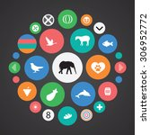 ecology icons universal set for ... | Shutterstock . vector #306952772
