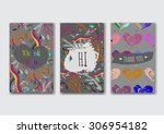 set of the card templates for... | Shutterstock .eps vector #306954182