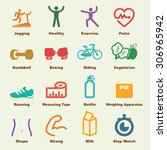 fitness elements  vector...   Shutterstock .eps vector #306965942