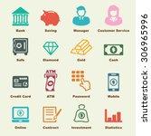banking elements  vector... | Shutterstock .eps vector #306965996