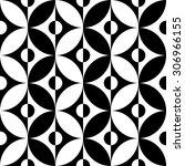seamless circle pattern. vector ... | Shutterstock .eps vector #306966155