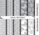 asian vector pattern pattern... | Shutterstock .eps vector #306968612